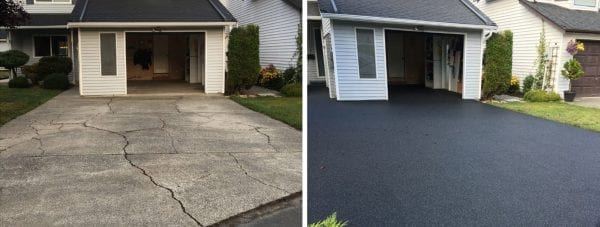 A comparison of before and after rubber surfacing by Vancouver Safety Surfacing.