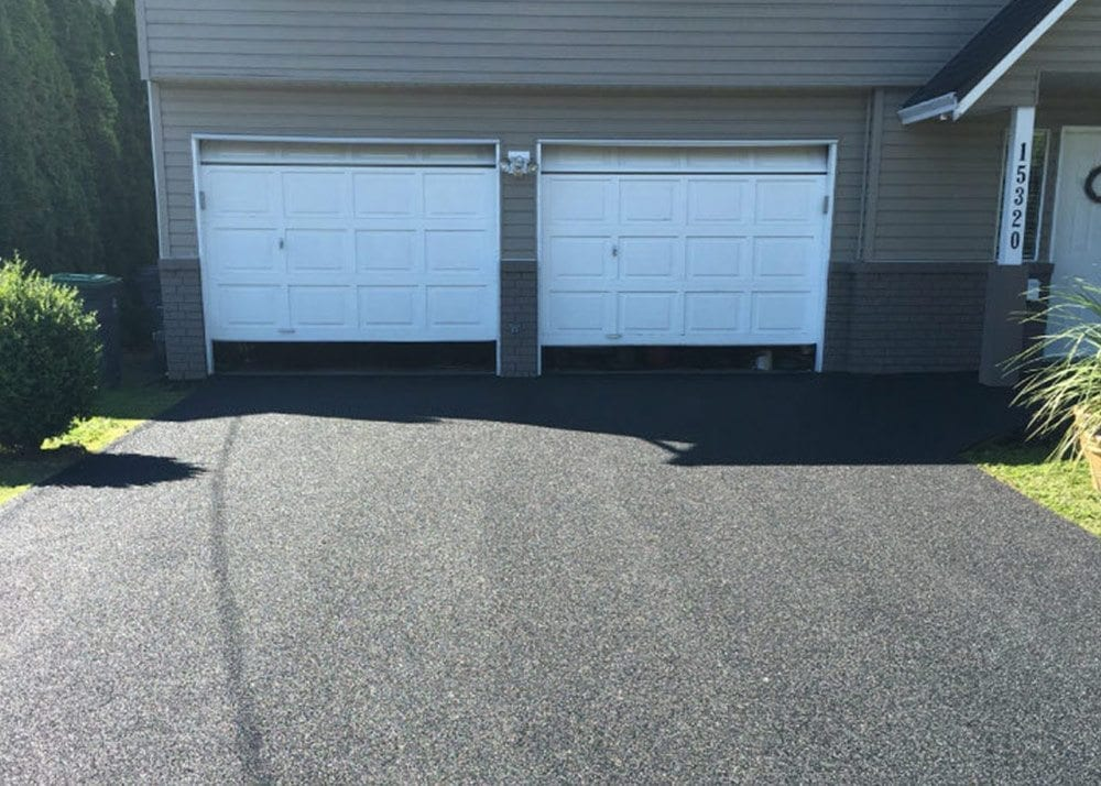 Driveway after rubber surfacing