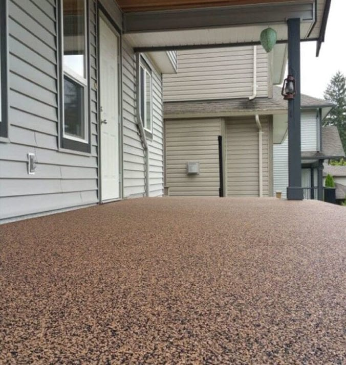 After image of home's deck after rubber surfacing was done by Vancouver Safety Surfacing