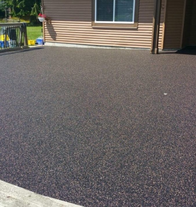 After rubber surfacing of large deck