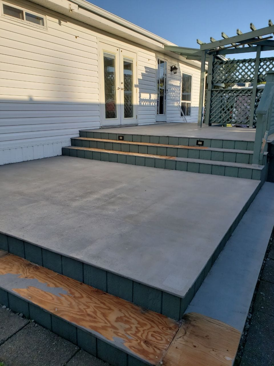Deck Before rubber surfacing