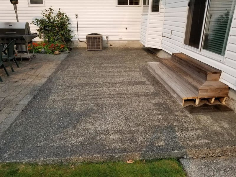 Before image of rubber surfacing from Vancouver Safety Surfacing