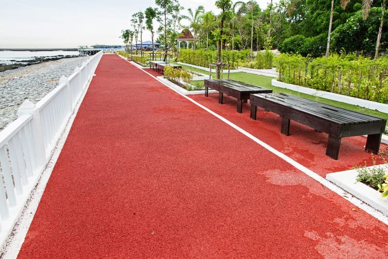 Image of rubber track in park